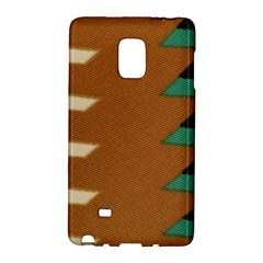 Fabric Textile Texture Abstract Samsung Galaxy Note Edge Hardshell Case by Sapixe