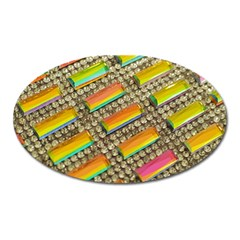 Colors Color Live Texture Macro Oval Magnet by Sapixe