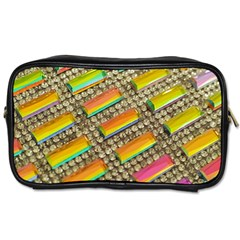 Colors Color Live Texture Macro Toiletries Bag (one Side) by Sapixe