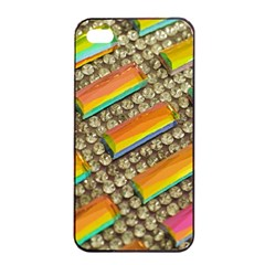 Colors Color Live Texture Macro Apple Iphone 4/4s Seamless Case (black) by Sapixe