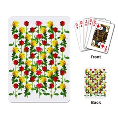 Rose Pattern Roses Background Image Playing Cards Single Design by Sapixe