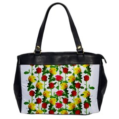 Rose Pattern Roses Background Image Oversize Office Handbag by Sapixe