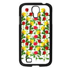 Rose Pattern Roses Background Image Samsung Galaxy S4 I9500/ I9505 Case (black) by Sapixe