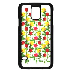 Rose Pattern Roses Background Image Samsung Galaxy S5 Case (black) by Sapixe