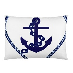 Anchor Chain Nautical Ocean Sea Pillow Case by Sapixe