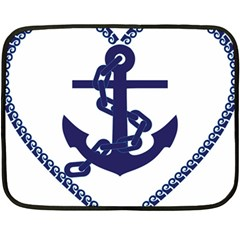 Anchor Chain Nautical Ocean Sea Fleece Blanket (mini) by Sapixe