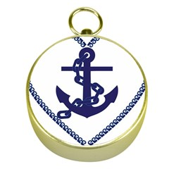 Anchor Chain Nautical Ocean Sea Gold Compasses by Sapixe