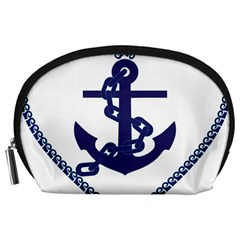 Anchor Chain Nautical Ocean Sea Accessory Pouch (large) by Sapixe