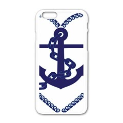 Anchor Chain Nautical Ocean Sea Apple Iphone 6/6s White Enamel Case by Sapixe