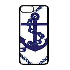 Anchor Chain Nautical Ocean Sea Apple Iphone 8 Plus Seamless Case (black)