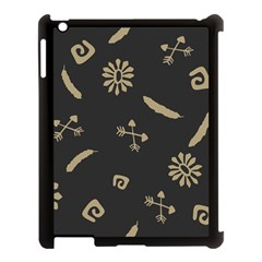 Pattern Seamless American Culture Apple Ipad 3/4 Case (black)