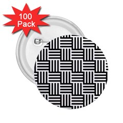 Basket Black Lines Stripes White 2 25  Buttons (100 Pack)