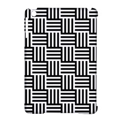 Basket Black Lines Stripes White Apple Ipad Mini Hardshell Case (compatible With Smart Cover)
