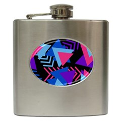 Memphis Pattern Geometric Abstract Hip Flask (6 Oz)