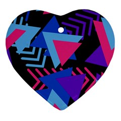 Memphis Pattern Geometric Abstract Heart Ornament (two Sides)