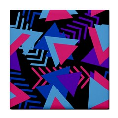 Memphis Pattern Geometric Abstract Face Towel