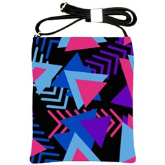 Memphis Pattern Geometric Abstract Shoulder Sling Bag by Sapixe