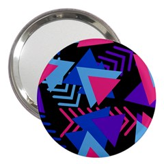 Memphis Pattern Geometric Abstract 3  Handbag Mirrors by Sapixe