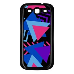 Memphis Pattern Geometric Abstract Samsung Galaxy S3 Back Case (black)