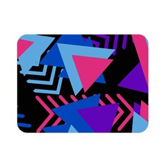 Memphis Pattern Geometric Abstract Double Sided Flano Blanket (mini)