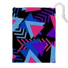Memphis Pattern Geometric Abstract Drawstring Pouch (xxl)