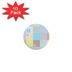 Pastel Diamonds Background 1  Mini Buttons (10 Pack)