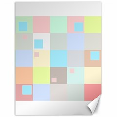 Pastel Diamonds Background Canvas 18  X 24  by Sapixe