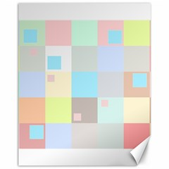 Pastel Diamonds Background Canvas 11  X 14  by Sapixe