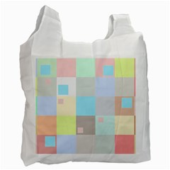Pastel Diamonds Background Recycle Bag (two Side) by Sapixe