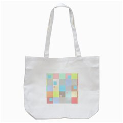 Pastel Diamonds Background Tote Bag (white) by Sapixe