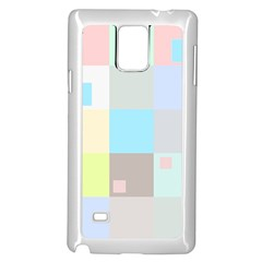 Pastel Diamonds Background Samsung Galaxy Note 4 Case (white) by Sapixe