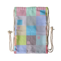 Pastel Diamonds Background Drawstring Bag (small)