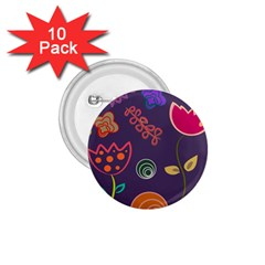 Background Decorative Floral 1 75  Buttons (10 Pack)