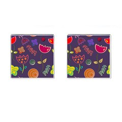 Background Decorative Floral Cufflinks (square) by Sapixe