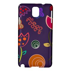 Background Decorative Floral Samsung Galaxy Note 3 N9005 Hardshell Case