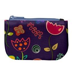 Background Decorative Floral Large Coin Purse