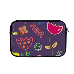 Background Decorative Floral Apple Macbook Pro 13  Zipper Case by Sapixe