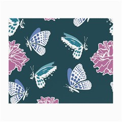 Butterfly Pattern Dead Death Rose Small Glasses Cloth by Sapixe