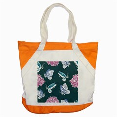 Butterfly Pattern Dead Death Rose Accent Tote Bag