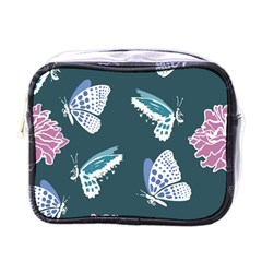 Butterfly Pattern Dead Death Rose Mini Toiletries Bag (one Side) by Sapixe
