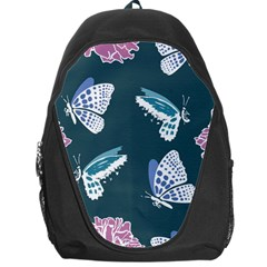 Butterfly Pattern Dead Death Rose Backpack Bag by Sapixe
