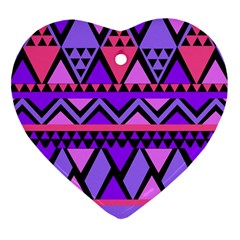 Seamless Purple Pink Pattern Heart Ornament (two Sides) by Sapixe