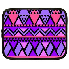 Seamless Purple Pink Pattern Netbook Case (xl) by Sapixe