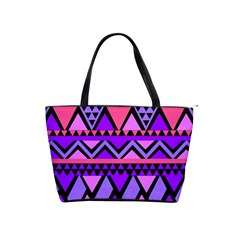 Seamless Purple Pink Pattern Classic Shoulder Handbag by Sapixe