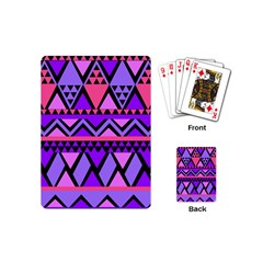 Seamless Purple Pink Pattern Playing Cards (mini) by Sapixe
