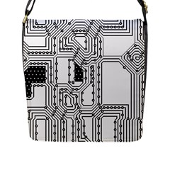 Seamless Pattern Texture Background Flap Closure Messenger Bag (l) by Sapixe
