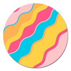Cake Color Palette Painting Magnet 5  (round)