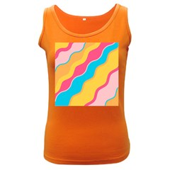 Cake Color Palette Painting Women s Dark Tank Top