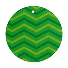 Green Background Abstract Ornament (round)