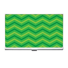 Green Background Abstract Business Card Holder